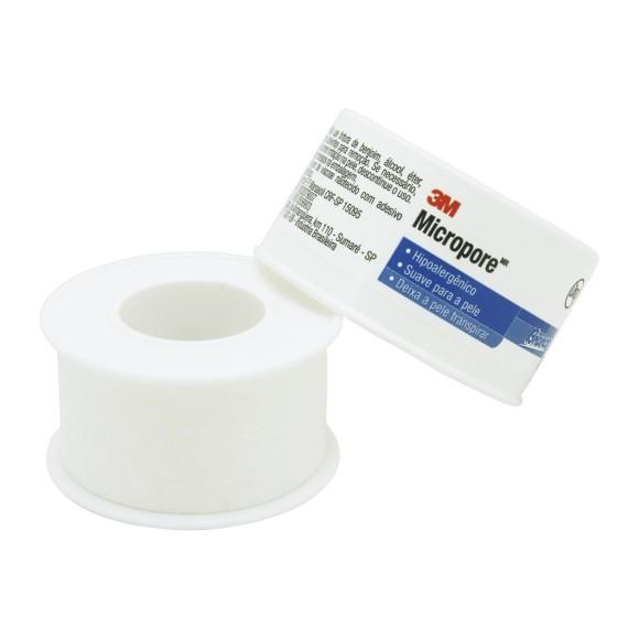 Fita Micropore Branca 25mm x 10m - 3M