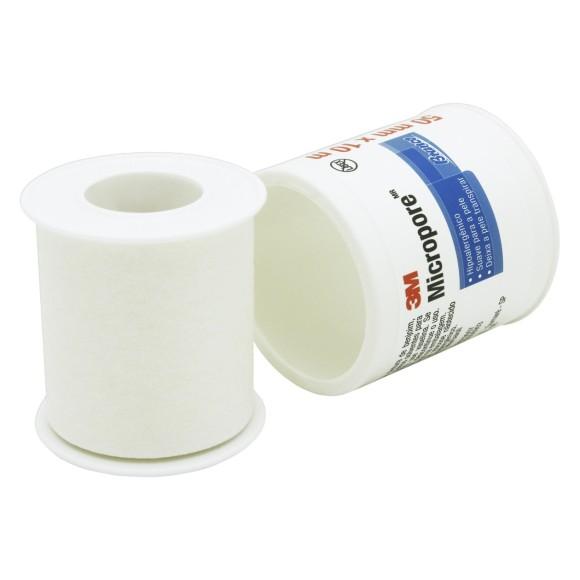 Fita Micropore Branca 50mm x 10m - 3M