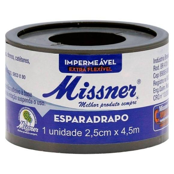 Esparadrapo Branco 2,5cm x 4,5m Missner