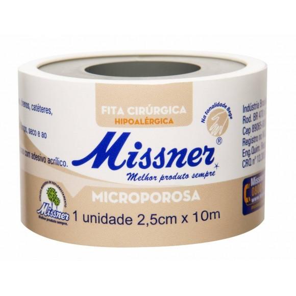 Fita Microporosa Bege 2,5cm x 10m Missner