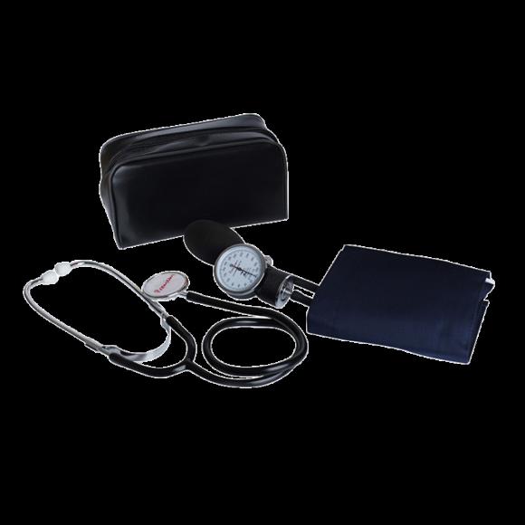 Kit Aparelho De Pressão De Velcro Nylon  Com Esteto Simples - Premium