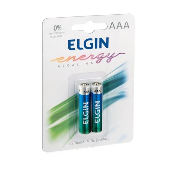 Pilha Alcalina Palito AAA Blister 2 Unidades - Elgin