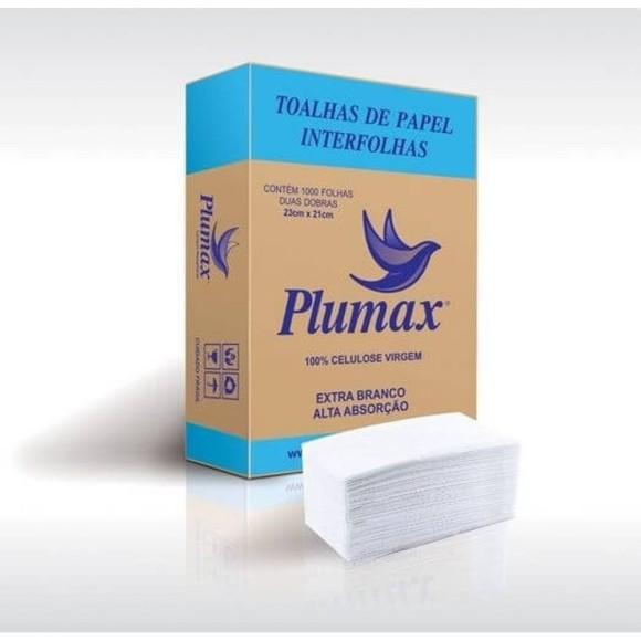 Papel  Interfolha Cx. Com 1000 Folhas - Plumax