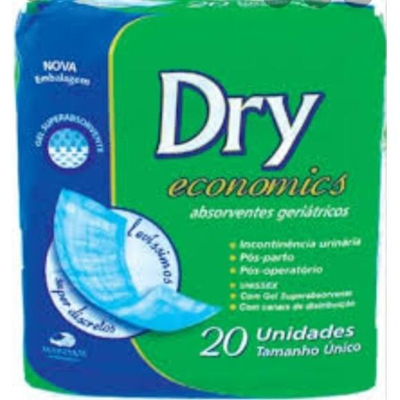 Absorvente Geriátrico Com 20 Unid. -  Dry Economics