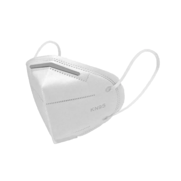 Máscara Descartável KN95 - Branca - 5 Unidade