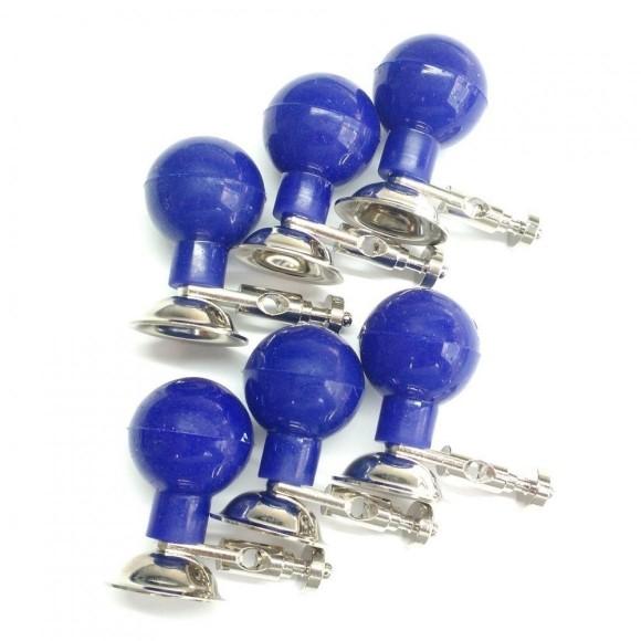 Eletrodo De Sucção Adulto De Silicone Azul - Jogo Com 6 Unidades