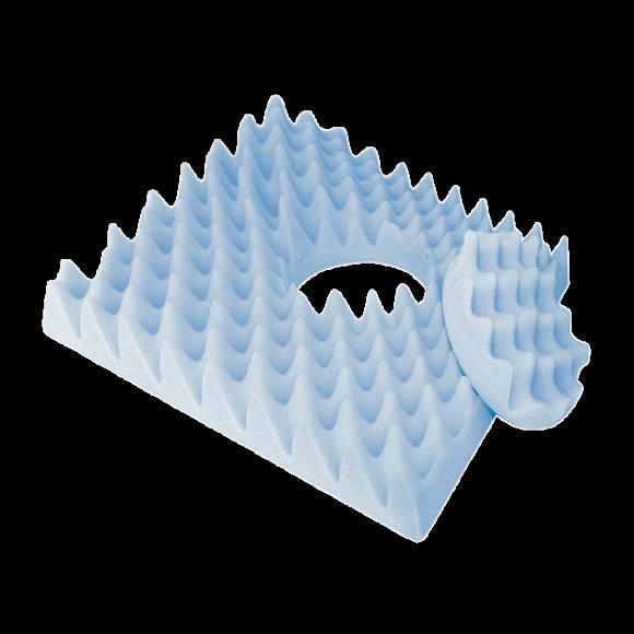 Almofada De Espuma Caixa de Ovo Quadrada Com Orifìcio - Aquasonus