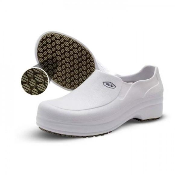 Sapato Antiderrapante BB65 Branco - Soft Works