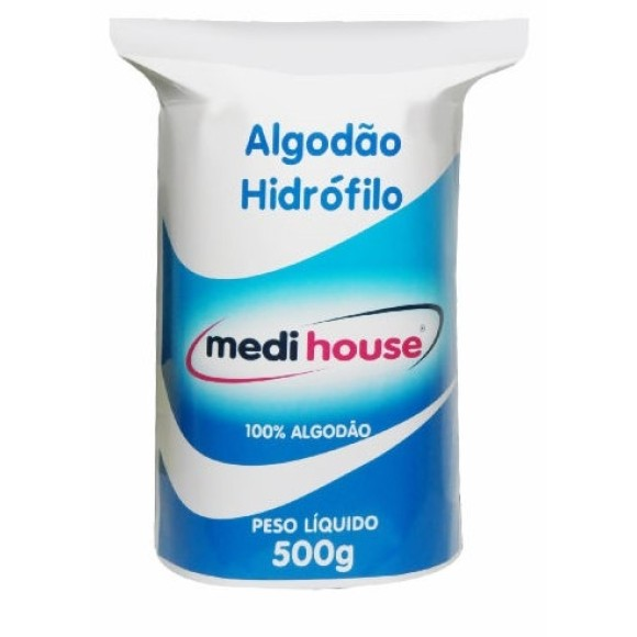 Algodão Hidrófilo 500gr Medi House - Rolo