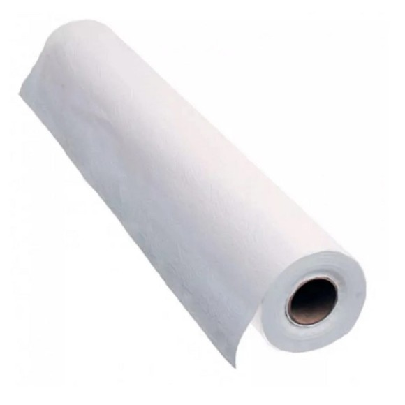 Papel Lençol - 70cm x 50m - HN DESC Luxo (100% branco) - Rolo