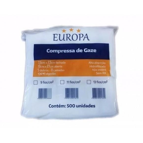 Compressa De Gaze 9 Fios Não Estéril - Europa