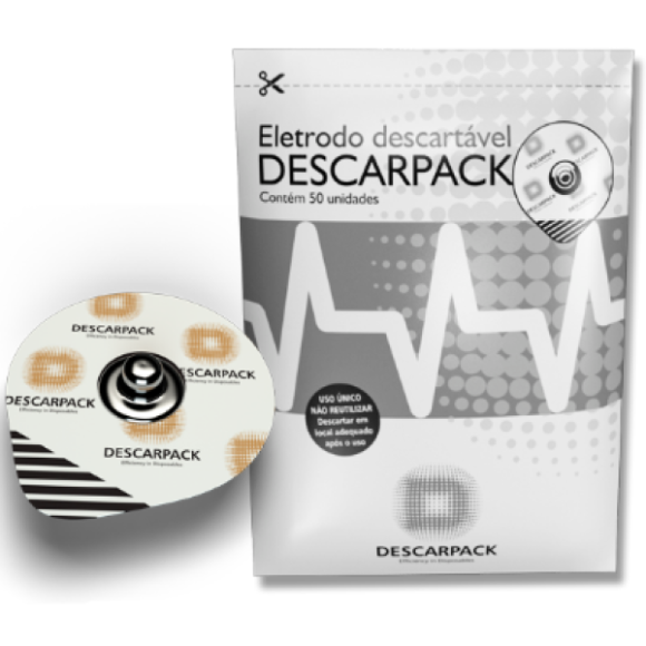 Eletrodos Descartáveis Descarpack - 50 unidades