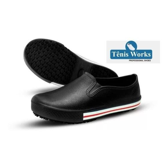 Sapato Antiderrapante BB80 Preto - Soft Works